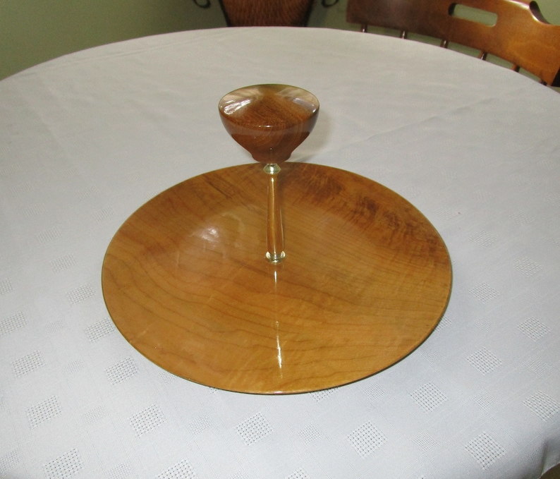 Beautiful 60/'s Lacquered Wooden Mid Century Serving Tray By Rogue River Myrtlewood