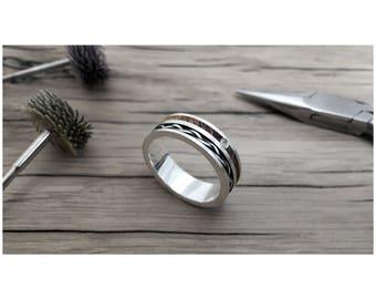 Weave Diamond 7mm, wood ring