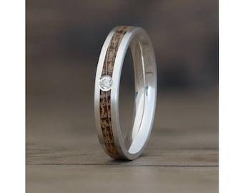 Native Diamond - Wood Engagement Ring UK