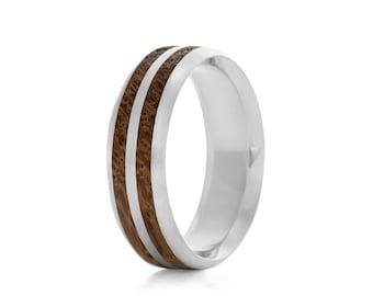 Dual Oval - wood ring UK