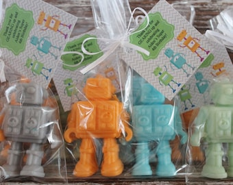 Robot Soap Favors Party Baby Shower Boy Birthday Theme Robots