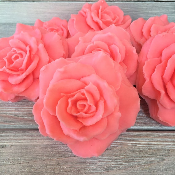 10 Rose 3d Party Favor Soaps Rose Soap Rose Favors Flower Etsy