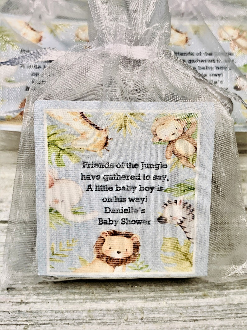 Jungle Themed Favors Baby Boy Favors Birthday Favors Baby Girl Favors Baby Sprinkle Favors Jungle Soap Favors:  Baby Shower Favors