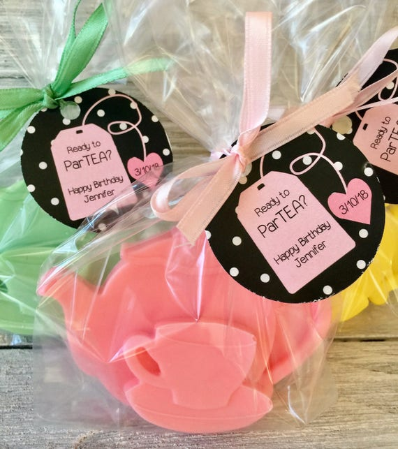 6 Baby Powder Bunny Soaps Baby Shower Birthday Party {Choose a Colour}