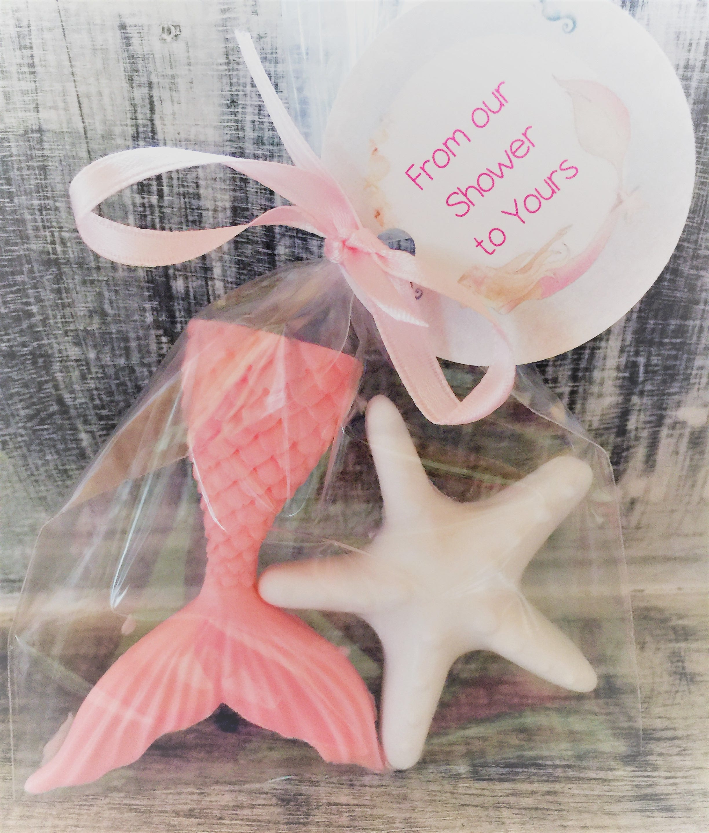 Mermaid Tail and Star Fish Soap Favors: Mermaid theme Little | Etsy