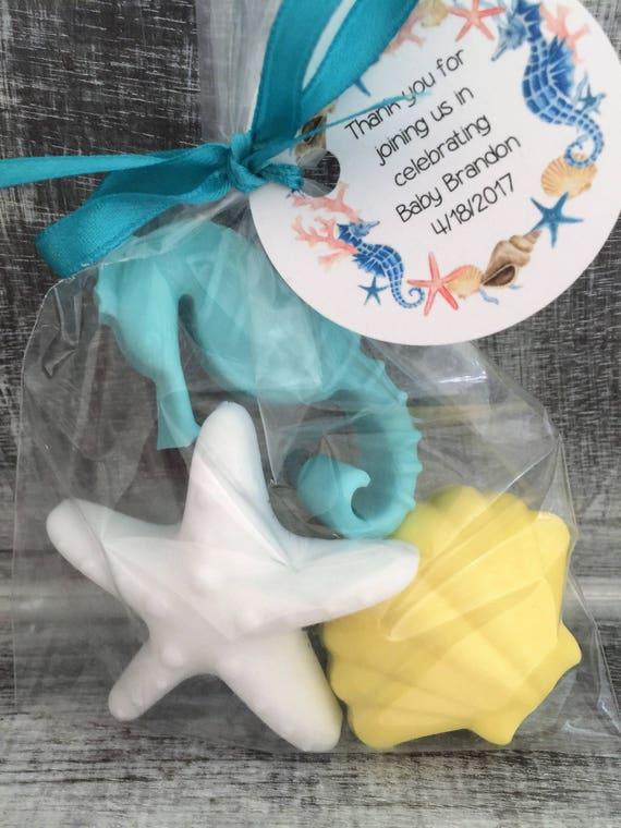 Birthday Favors Baby Shower Favors Sea Shell and Sea Horse Soap Favors:  Free Shipping Sea Horse Sea Shell Favors Beach theme