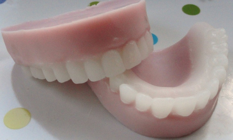 10 Over the Hill False Teeth Party Favor Soaps