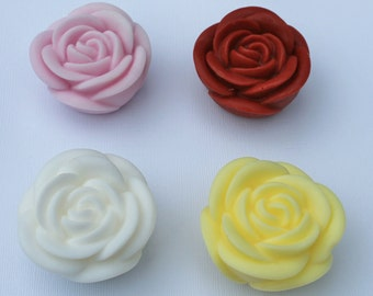10 Rose Flower Party Favor Soaps