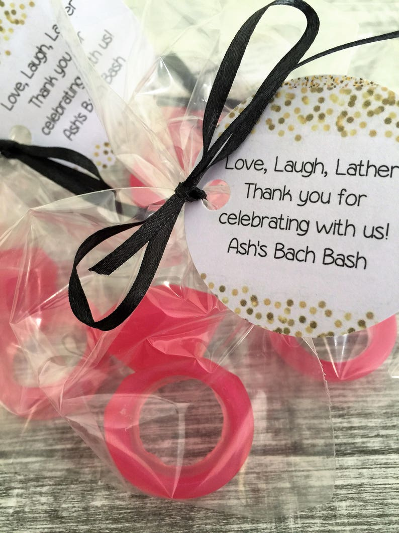 bridal favors wedding ring engagement favors ring soap wedding favors 10 Ring Soap Favors:  Party favors ring favors bridal shower