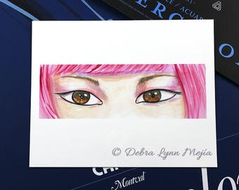 The Eyes Have It Pink - Fashion Illustration Print