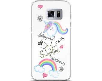 Sunshine, lollipops, rainbows and unicorns Samsung Phone Case, Samsung Phone Case, Cute Phone Case, Fashion Phone Case, Girly Phone Case
