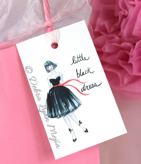 Little Black Dress Gift Tags Bridal Shower Gift Tags Party Etsy