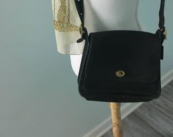cc9215765869 Genuine Coach Black Leather Shoulder Bag Adjustable Strap Excellent  Condition Mothers Day Gift