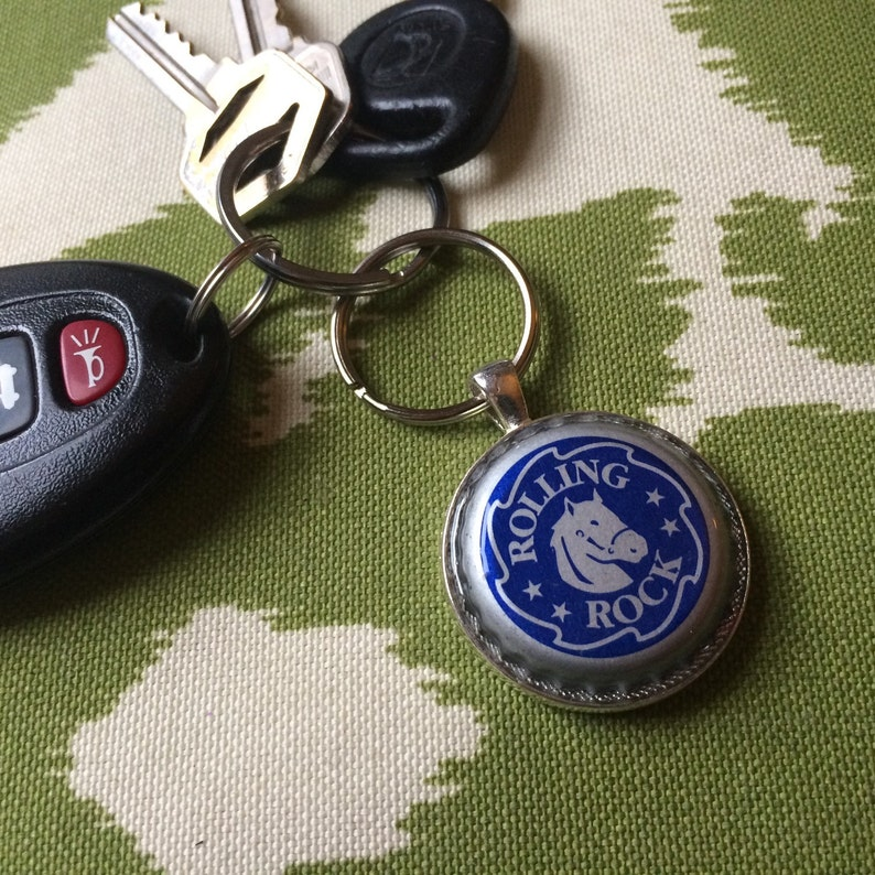 detroit michigan upcycled recycled Vernors upcycled Keychain vintage ginger ale