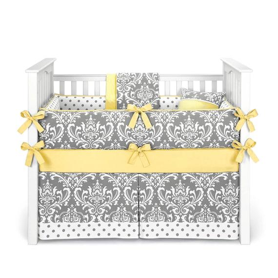 Grey Crib Bedding Sets Clothing, Yellow Gray Crib Bedding