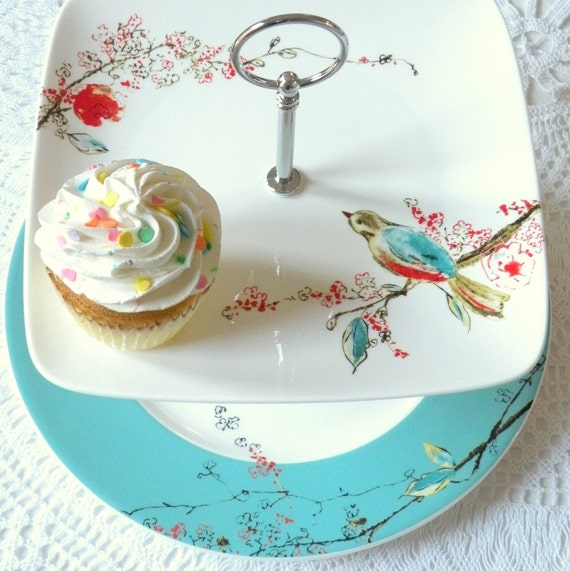 Items Similar To Square Lenox Chirp Plates In Lovebirds
