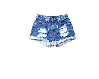 89ca7a6f2d0 All Sizes Cuffed Destroyed Ripped Distress High Waist Shorts Plus Sizes