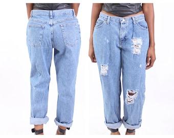 6823296ac30 All SIZES High Waist Destroyed Boyfriend Jeans Plus Sizes