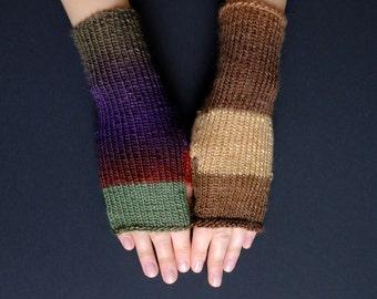 Fingerless Mittens: Mismatching Wrist Warmers For Her