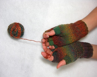 Knitted Fingerless Gloves (Wrist Warmers, Arm Warmers, Fingerless Mittens, Fingerless Mitts) - To Order