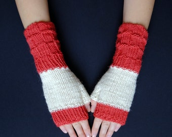 Fingerless Mittens: Hand Knit Wrist Warmers For Texting And Driving