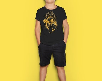 Bendy Shirt Kids Shirt Video Game Inspired Character- Ink Machine Custom Bendy - Youth Children's & Kid Short Sleeve T-Shirt