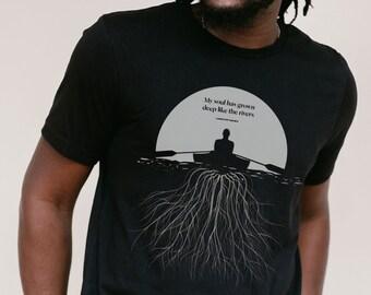 Langston Hughes Shirt, Literary T Shirt for Him, Book Lover Gift for Her, Inspirational Tee for Reader