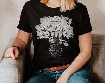 Charlotte Brontë Shirt, I am No Bird Literary T-Shirt, Inspirational Book Lover Gift for Her