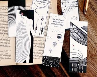 Women Writers Literary Bookmark Set, Book Lover Gift
