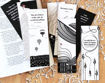 Women Writers Bookmark Set, Literary Bookmarks, Set of Six, Bookish Gift for Her, English Teacher Gift for Her, English Major