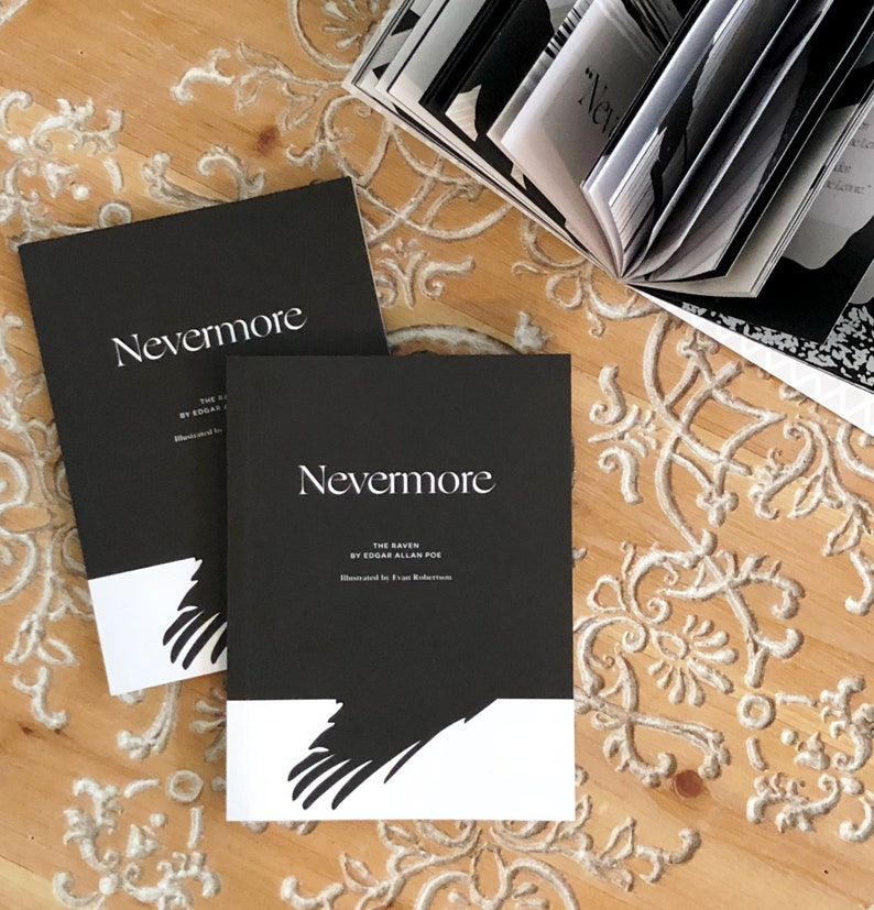 Nevermore: The Raven by Edgar Allan Poe Illustrated by Evan image 0