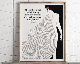 Kate Chopin Literary Art Print, The Awakening Quote, Book Lover Gift
