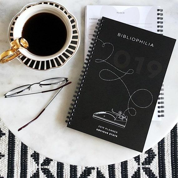 2019 Planner, Literary Calendar, Book Lover Gift for Bookworm, Engagement  Calendar