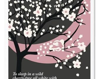 Anne of Green Gables Literary Poster, Illustration, Minimalist Wall Art Print, Children Decor