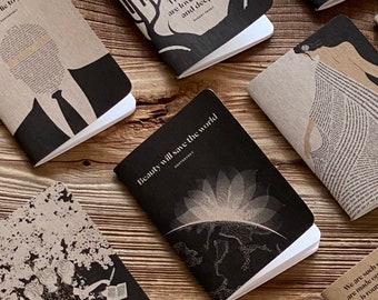 Any Three Notebooks, Lined Literary Journal, Stocking Stuffer, Book Lover Gift for Writer, Reader Gift