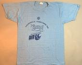 Vintage 80s WWWE 1100 Country Radio Marathon Running TShirt Cleveland RC Cola SM
