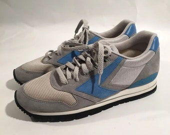 True Vintage Brooks Chariot KW Running Shoes Men Size 10 Gray Blue 80s Track  CC cfdebdbf1