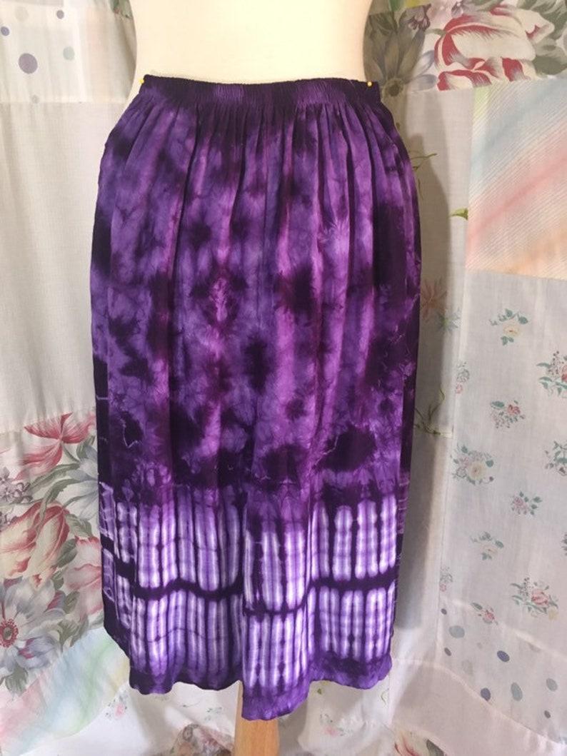 Bohemian Hippie Flowerchild Boho Purple Tie Dyed Shorts Culottes SMALL
