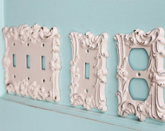 Set Of 3 Metal Light Switch Cover Wall Plate Roses In Etsy
