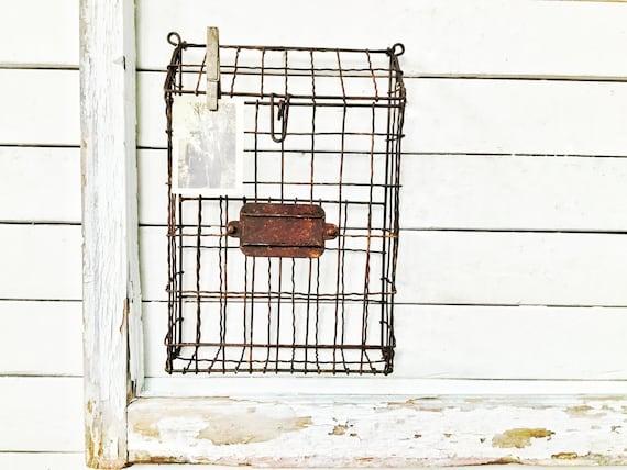 Rustic Metal Mailbox Metal Hanging MailBox Wall Mount | Etsy