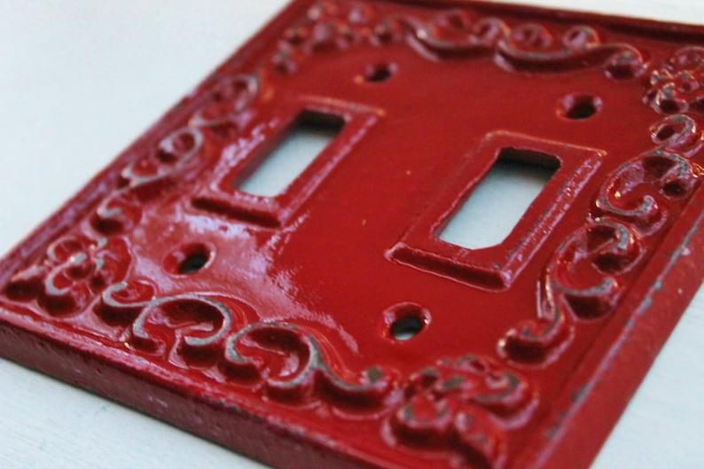 Pegatina de vinilo rosada brillante lisa para la cubierta del interruptor de la luz.