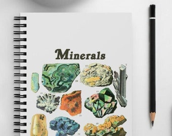 Minerals - Geology Study Spiral notebook