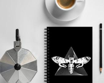 Deaths Head Moth Pyramid Spiral Notebook