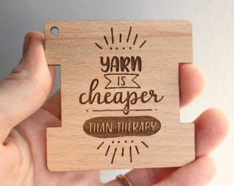 Wraps per Inch Tool- Cheaper than Therapy , Spinner's and Knitter's Wraps Per Inch Tool, Wooden Knitting Tools and Notions, Gift Under 10