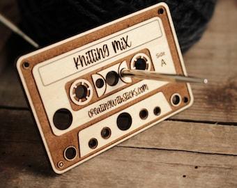 Mini Wooden Cassette Tape Needle Gauge