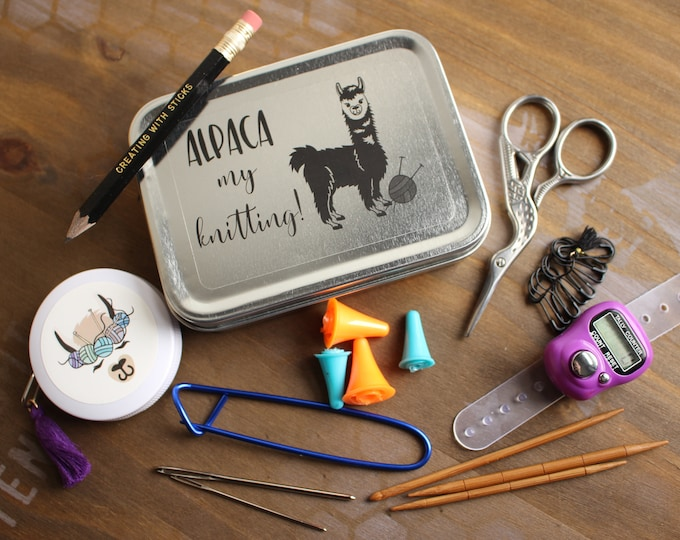 Featured listing image: Alpaca my Knitting- Special Edition Notion Tin