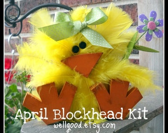 2x4 SPRING CHICK Blockhead Kit