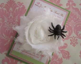 Girl hair clips - Halloween hair clips - girl barrettes - flower hair clips