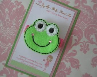 girls hair clip - fancy the frog hair clip - no slip hair clip