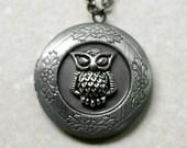 Antique Silver Owl Locket